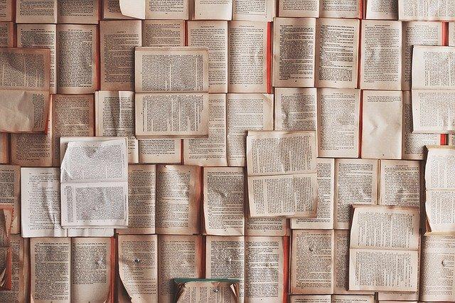 敷き詰められた本